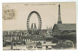 PARIS Vue Sur La Grande Roue, La Tour Eiffel , (et La Galerie Des Machines De L'exposition De 1900) Bon état - Exposiciones