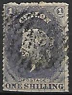 CEYLAN    -   1861 .  Y&T N° 22 Oblitéré . - Ceylon (...-1947)
