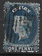 CEYLAN    -   1862 .  Y&T N° 26 Oblitéré . - Ceylon (...-1947)