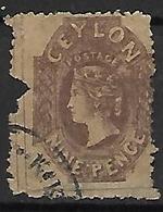 CEYLAN    -   1862 .  Y&T N° 29 Oblitéré .    FAUX  /  FALK  /  FORGERIE - Ceylon (...-1947)