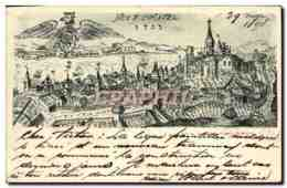 CPA Suisse Neuchatel Carte 1898 - NE Neuchatel