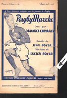 """Partition """"petit Format"""" Maurice Chevalier  RUGBY MARCHE  1924 (MPA PF 025) - Musique & Instruments"""