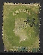 CEYLAN    -   1863 .  Y&T N° 36 Oblitéré . - Ceylon (...-1947)
