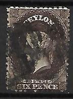 CEYLAN    -   1863 .  Y&T N° 37 Oblitéré . - Ceylon (...-1947)
