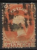CEYLAN    -   1863 .  Y&T N° 40 Oblitéré . - Ceylon (...-1947)