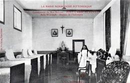 CPA -  PONT - L'ABBE - PICAUVILLE  (50)  Communauté  Du Bon - Sauveur - Asile St Joseph - Dortoir De L'Infirmerie - Autres Communes