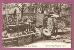Cpa Belfort Restes De L'avion Allemand Type Rumpler Descendu Le 18 Octobre 1917  - 2 Scans - Belfort - Ciudad