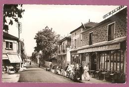 Cpsm Franconville Rue De La Station  - Café De La Gare - 2 Scans - Franconville