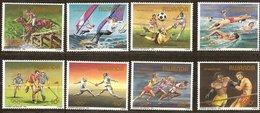 Rwanda Ruanda 1984 OCBn°  1210-1217  *** MNH Cote 17,00 Euro Jeux Olympiques Los Angeles - 1980-89: Neufs