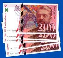 200 Fr  Neuf  Suite  5  Billets  Neuf 1996 - 1992-2000 Ultima Gama