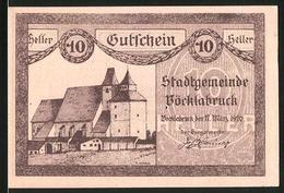 Notgeld Vöcklabruck 1920, 10 Heller, Kirche, Ortsansicht - Oesterreich