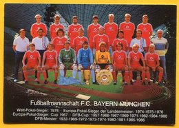 Futballmannschaft F.C Bayern München 1986. Germany Football - Fussball