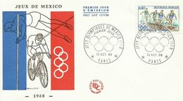 FRANCIA, SOBRE PRIMER DIA JUEGOS OLIMPICOS - Verano 1968: México