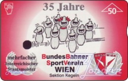 """TWK Österreich Privat: """"BBSV-Kegeln, 35 Jahre - 50E"""" Gebr. - Autriche"""