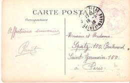 Seine Et Marne :- FONTAINEBLEAU  BUREAU DE RECRUTEMENT DE FONTAINEBLEAU - 1. Weltkrieg 1914-1918
