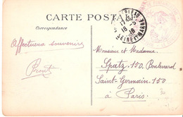 Seine Et Marne :- FONTAINEBLEAU  BUREAU DE RECRUTEMENT DE FONTAINEBLEAU - Poststempel (Briefe)