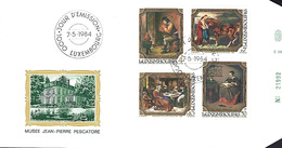 LUXEMBOURG  -  FDC   7.5.1984    MUSEE JEAN-PIERRE PESCATORE - FDC