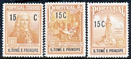 !■■■■■ds■■ St.Thomas Postal 1925 AF#1-3* Marquis Of Pombal Set (x5147) - St. Thomas & Prince