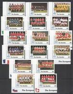X1181 GAMBIA SPORT FOOTBALL UEFA EURO 96 ENGLAND ALL TEAMS !!! FULL BIG SET MNH - Fußball-Europameisterschaft (UEFA)