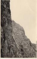 Felswand Mit Kletterer Und 2 Seilen Ca 1940 Unbekannt - Fotografie