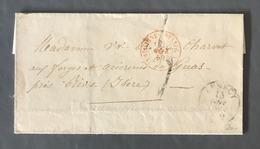 France Lettre (LSC) D'Annecy 1859, Taxée 5 - TAD Rouge D'entrée SARDAIGNE - EYSSEL A - (W1249) - Poststempel (Briefe)