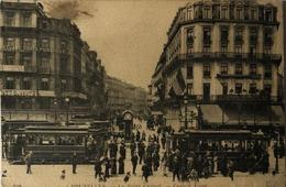 Bruxelles // Le Point Central Avec 2 Tres Belle Trams 19?? - Vervoer (openbaar)