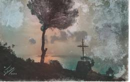 Koblenz - Kreuz Mit Baum Im Sonnenuntergang 1934 - Fotografie