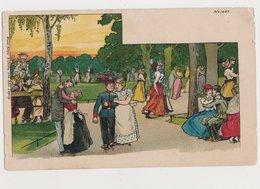 Carte Fantaisie  / Couples Dans Un Parc / Bruno Bürger & Ottillie - Paare