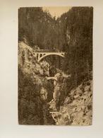 Ligne Martigny-Chamonix - Les Trois Ponts Des Gorges Du Triège Près Tretien - VS Valais