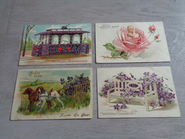 Beau Lot De 60 Cartes Postales De Fantaisie Gaufrées  Gaufrée       Mooi Lot Van 60 Postkaarten Van Fantasie Reliëf - 5 - 99 Cartes