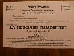 BUVARD LA FIDUCIERE IMMOBILIERE - Carte Assorbenti