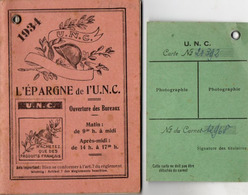 VP15.694 - MILITARIA - Carte & Livret Publicitaire ( 96 Pages )  De L' U.N.C  - Section De STRASBOURG - Documents