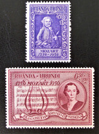 BICENTENAIRE DE LA NAISSANCE DE MOZART 1956 - NEUFS ** - YT 200/01 - MI 156A/57A - Ruanda-Urundi