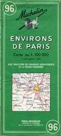 2 Cartes Routières Michelin - Environs De Paris N°96/97 - Cartes Routières