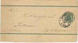 """DEUTSCHES REICH """"BRESLAU"""" (jetzt WROCLAW, Polen) K1 Auf Pra.-GA-Streifband-Vorderseite 3 Pfennig Nach KATZENAU, 1886 - ....-1919 Overgangsregering"""