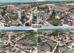Carte 1950 OUDON / MULTIVUES CHATEAU , GRANDE RUE , ET VUE GENERALE - Oudon