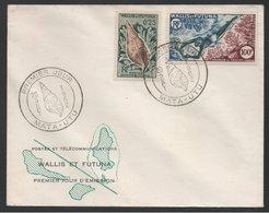 WALLIS & FUTUNA - MATA UTU - PLONGEE SOUS MARINE / 1962 ENVELOPPE FDC DU PA # 19  (ref LE74) - Tauchen