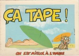Illustrateur R. HUET N°971/1 Vacances Plage ça Tape On Est Mieux à L'ombre Pense Ce Petit Chien ! HUMOUR - Other Illustrators