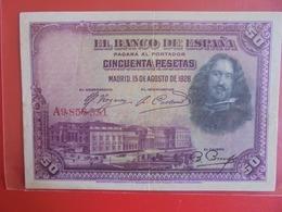ESPAGNE 50 PESETAS 1928 CIRCULER (B.7) - [ 1] …-1931 : Primeros Billetes (Banco De España)