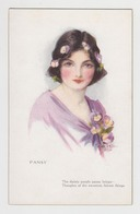 OR538 - Jolie Illustration Portrait Femme Signée Marjorie MOSJYN - Oilette - PANSY - Autres Illustrateurs