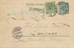 """DEUTSCHES REICH """"CULMSEE"""" K1 (Chełmża) 5 Pf Blaugrün Reichspost GA-Postkarte M. Zusatzfrankatur AUSSTELLUNGSSTÜCK, RRR!! - Covers & Documents"""