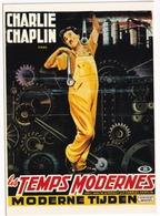 E 36 - 'LES TEMPS MODERNES' - Charlie Chaplin - 'Moderne Tijden' - Posters Op Kaarten