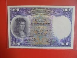 ESPAGNE 100 PESETAS 1931 BELLE QUALITE ! CIRCULER (B.7) - [ 2] 1931-1936 : Repubblica