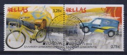 GREECE STAMPS EUROPA 2013(horizontally Imperforate)first Day Issue Postmark- USED-9/5/13-COMPLETE SET - Oblitérés