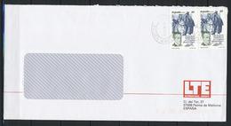 Spanien, MiNr. 3213 (2x) - Miguel Hernández, Dichter - Auf Brief Nach Deutschland; E-65 - 1931-Heute: 2. Rep. - ... Juan Carlos I