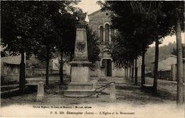 CPA CHAMPIER - L'Église Et Le Monument (433159) - Autres Communes