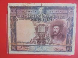 ESPAGNE 1000 PESETAS 1925 CIRCULER (B.7) - [ 1] …-1931 : Premiers Billets (Banco De España)