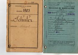 VP15.697 - MILITARIA - SELESTAT 1927 - Livret Militaire De Mr Edouard SCHULER ( Alsacien ) à HOLTZHEIM - Documenten