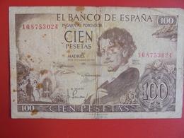 ESPAGNE 100 PESETAS 1965 CIRCULER (B.7) - [ 3] 1936-1975 : Regime Di Franco