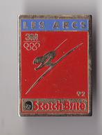 PIN'S THEME JEUX OLYPIQUES  ALBERTVILLE 92  SKI  LES ARCS  PUB SCOTCH BRITE - Jeux Olympiques